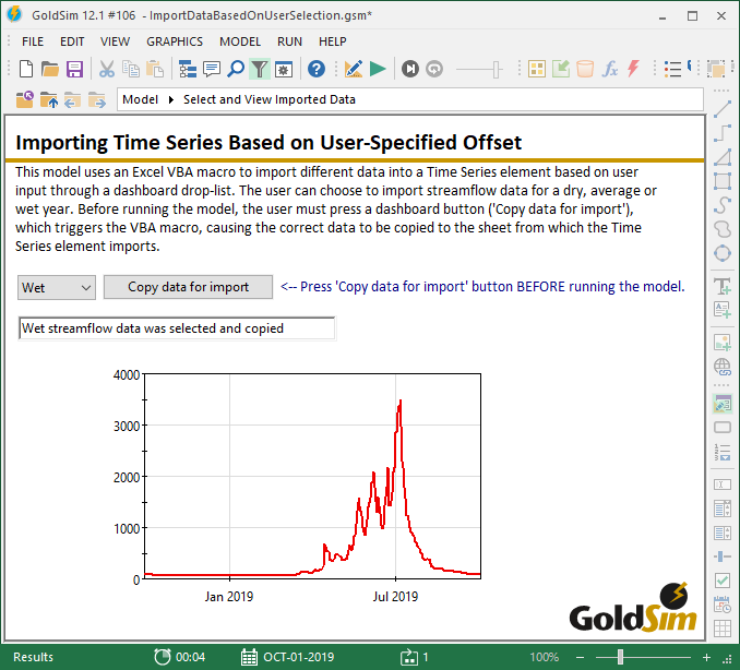 Importing Time Series Based on User-Specified Offset